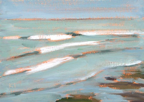 """Surf, Ocean Beach"" original fine art by Kevin Inman"