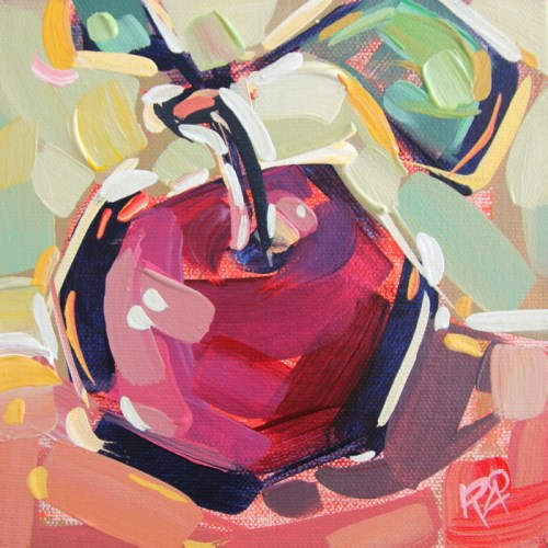 """Apple Abstraction 26"" original fine art by Roger Akesson"
