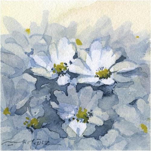 """""""flores 30"""" original fine art by Emilio López"""