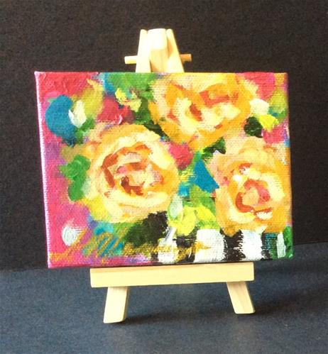 """beautiful Bouquet"" original fine art by Susie Monzingo"