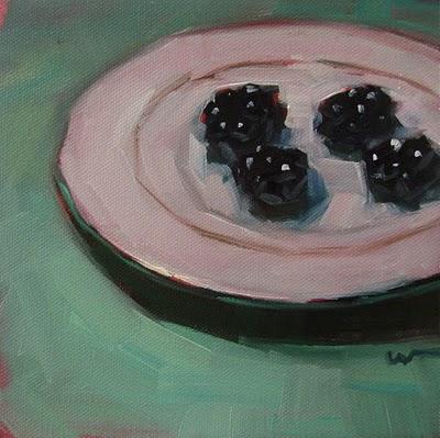 """Four Berries --- SOLD"" original fine art by Carol Marine"