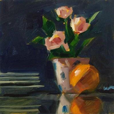 """Four For Dinner --- SOLD"" original fine art by Carol Marine"