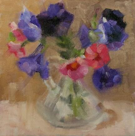"""Petunias"" original fine art by Cindy Haase"