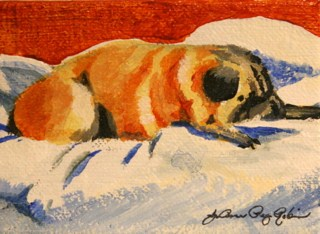 """Lucy...Doing What She Does Best"" original fine art by JoAnne Perez Robinson"