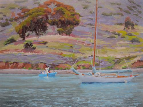 """""""Cat Harbor"""" original fine art by John White"""