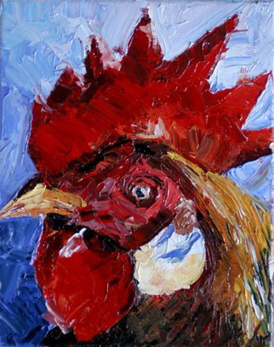 """""""Big Red"""" original fine art by Kristen Dukat"""
