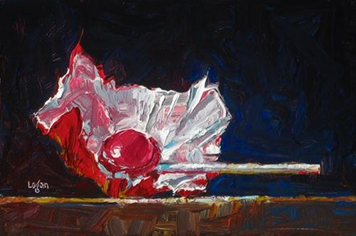 """Tootsie Pop Red"" original fine art by Raymond Logan"