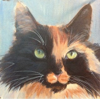"""Lindsey' Cats - Zoe"" original fine art by Lyn Gill"
