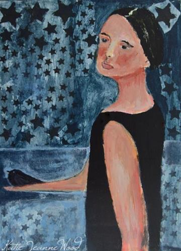 """Her Gift to the Night"" original fine art by Katie Jeanne Wood"