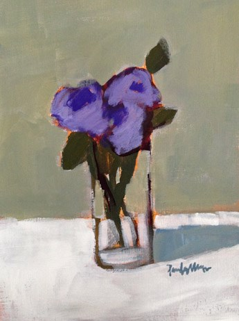 """purple floral"" original fine art by Pamela Munger"
