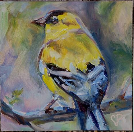 """""""Sweet Tweet"""" original fine art by Carol DeMumbrum"""