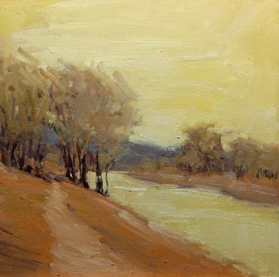 """Warm Winter Day"" original fine art by Laurel Daniel"
