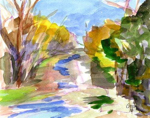 """Shoal Creek Anderson Lane"" original fine art by Donna Crosby"