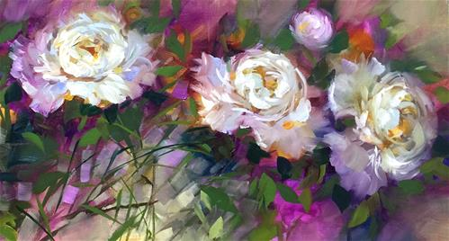 """Garden Dancers Detail - Nancy Medina Art Videos and Classes"" original fine art by Nancy Medina"