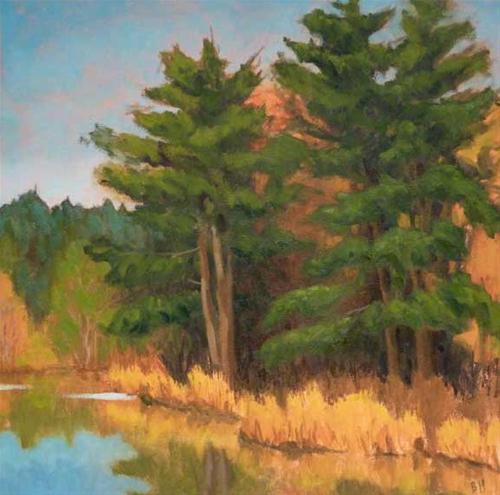 """Mill Pond"" original fine art by Bobbi Heath"