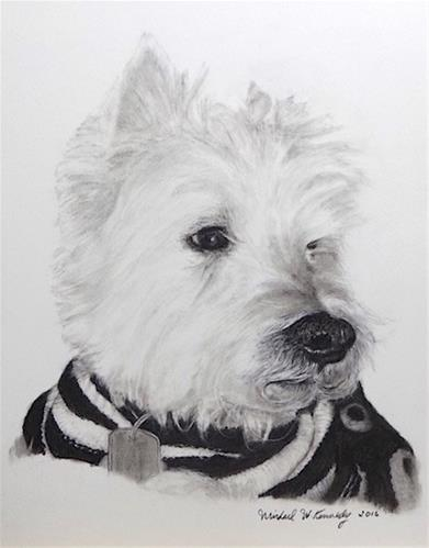 """Scrappy"" original fine art by Michael Kennedy"