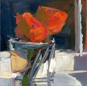 """#1025 Two for Tea"" original fine art by Lisa Daria"