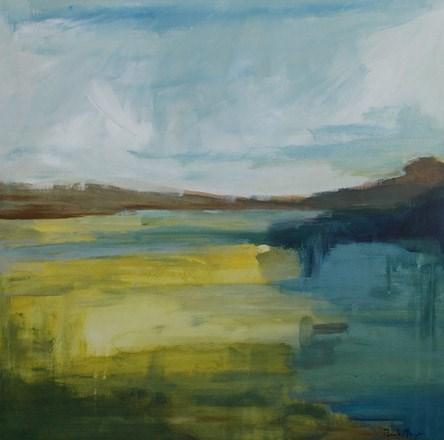 """""""Pieces of Blue Mesa"""" original fine art by Pamela Munger"""
