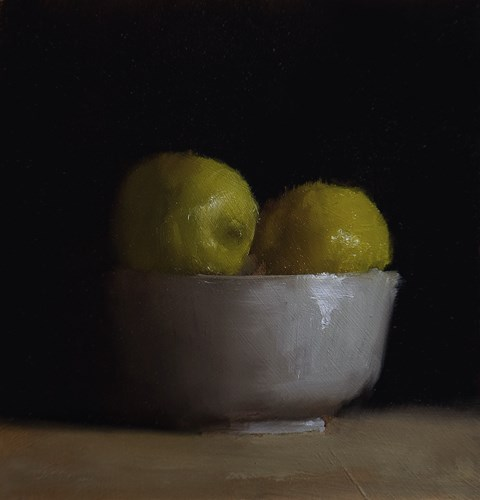 """Bowl of Lemons"" original fine art by Neil Carroll"