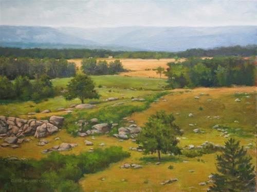 """""""'Looking Down at Devil's Den' An Original Oil Painting by Claire Beadon Carnell"""" original fine art by Claire Beadon Carnell"""