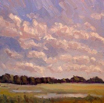 """After the Rain special price on older paintings $80"" original fine art by Heidi Malott"