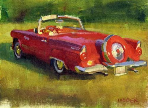 """Fins and fenders"" original fine art by Kathy Weber"