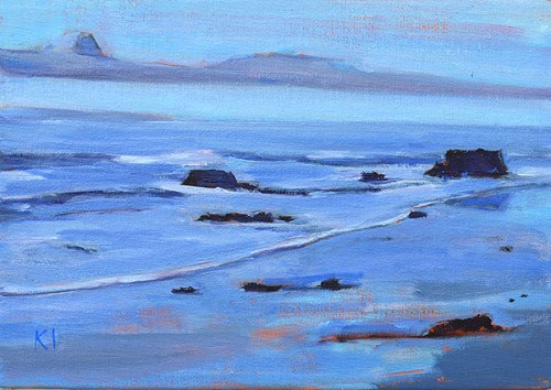 """Santa Barbara Blue"" original fine art by Kevin Inman"