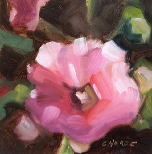 """Prudence in Pink"" original fine art by Cindy Haase"