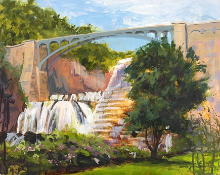 """Croton Gorge Dam"" original fine art by Jamie Williams Grossman"