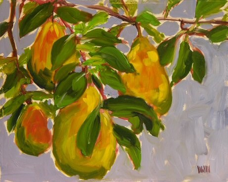 """Pears"" original fine art by Mary McInnis"