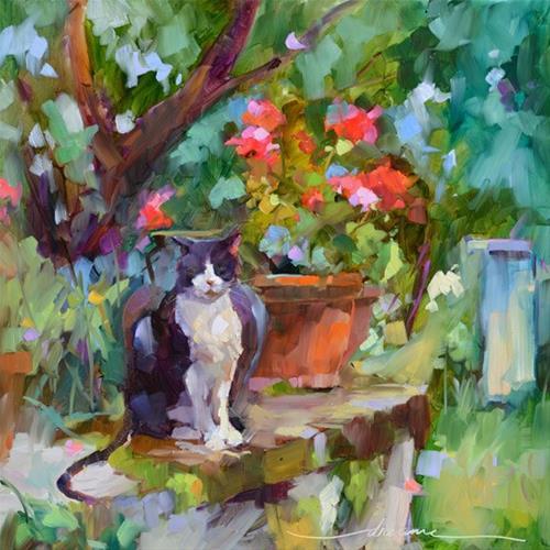 """Eddie le Chat en France"" original fine art by Dreama Tolle Perry"