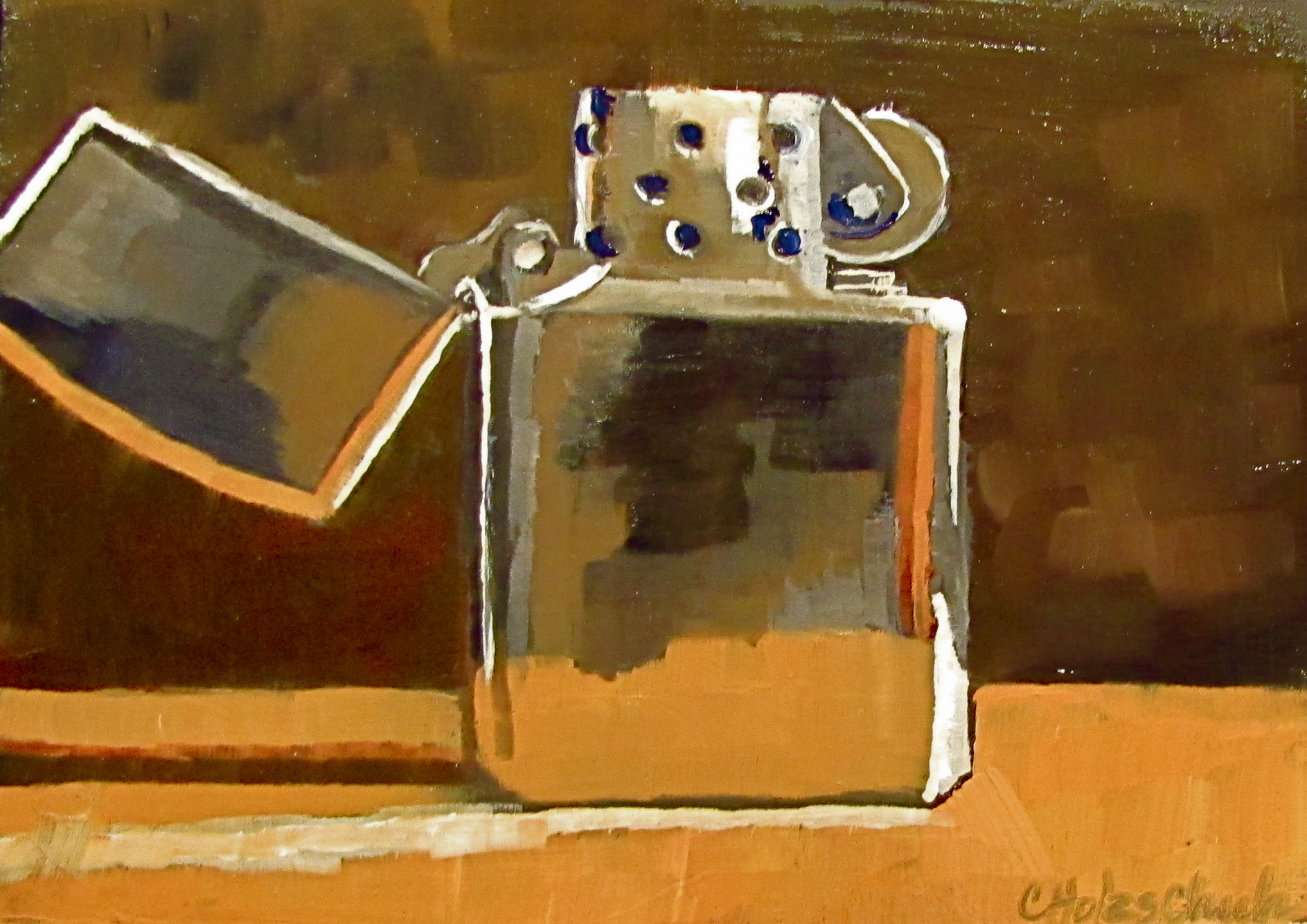 """My Zippo"" original fine art by Christine Holzschuh"