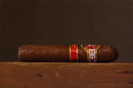"""Cigar  (+ still life gifts)"" original fine art by Abbey Ryan"