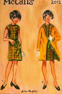 """Vintage Plaid"" original fine art by JoAnne Perez Robinson"