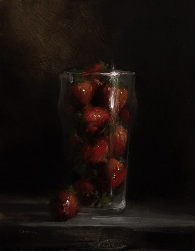 """Pint of Strawberries"" original fine art by Neil Carroll"