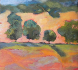 """Orange Hills"" original fine art by Janet Bludau"