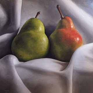 """Pair of Pears"" original fine art by Michael Naples"