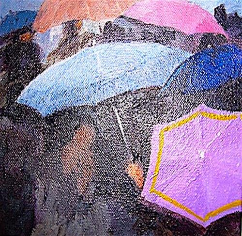 """Rain, Rain go away....."" original fine art by Gloria  Nehf"