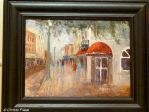 """Oak Street in the Rain – Arcadia, Florida"" original fine art by Christa Friedl"