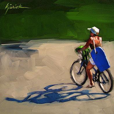 """Boogie On"" original fine art by Karin Jurick"