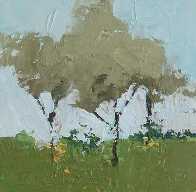 """""""Trees on Ranger Road"""" original fine art by Pamela Munger"""