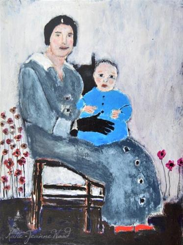 """Mother and Baby Boy"" original fine art by Katie Jeanne Wood"
