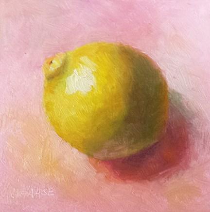 """Lemon in Morning"" original fine art by Cindy Haase"