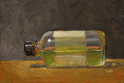 """Tipsy Linseed Oil"" original fine art by Raymond Logan"