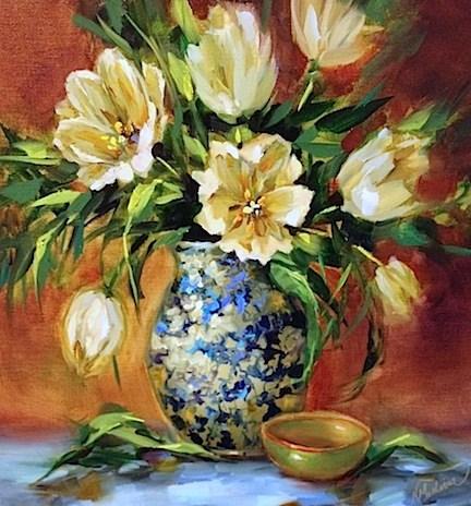 """French Tulips by Texas Flower Artist Nancy Medina"" original fine art by Nancy Medina"