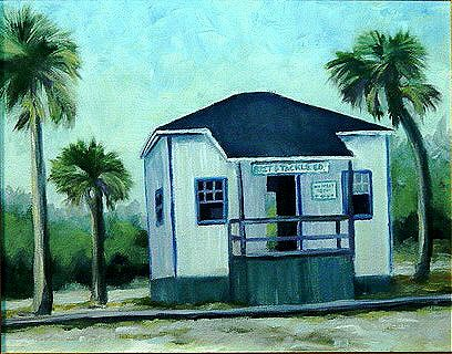 """Inlet Bait Shop"" original fine art by Maria Levandowski"