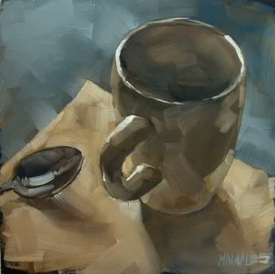 """Morning Mug with Spoon"" original fine art by Michael Naples"