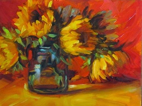 """Sunflowers"" original fine art by Karen Bruson"