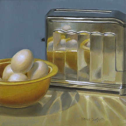 """Antique Toaster With Eggs"" original fine art by Nance Danforth"