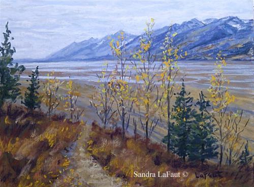 """Autumn in the Tetons"" original fine art by Sandra LaFaut"